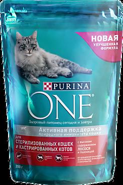 Сухой корм «Purina ONE» для стерилизованных кошек, 200г