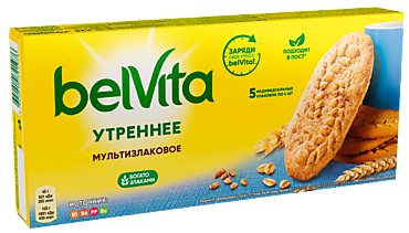 Печенье «BelVita» Утреннее мультизлаковое, 225г
