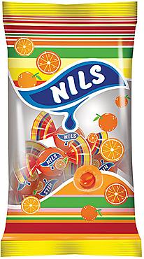 Конфета жевательная «Нильс» с апельсиновым вкусом, 60г