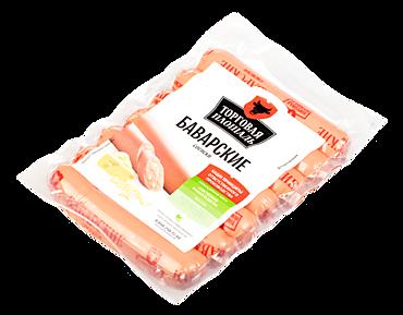 Сосиски «Торговая площадь» Баварские с сыром, 350г