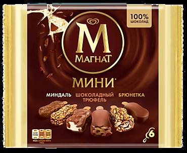 Мороженое «Магнат» мини «Миндаль» (2шт), «Брюнетка» (2шт) и «Шоколадный трюфель»(2шт), 294г