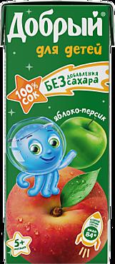 Сок «Добрый» яблоко-персик, 200мл