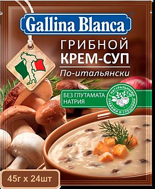 Крем-суп «Gallina Blanca» Грибной по-итальянски, с сухариками, 230г