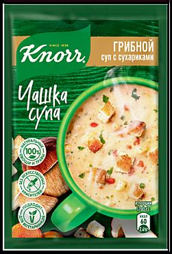 Суп грибной «Knorr Чашка супа» с сухариками, 15г