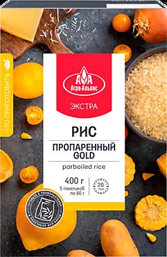 Рис «Агро-Альянс» пропаренный, 5 пакетиков, 400г