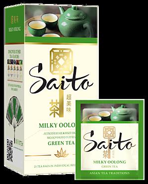 Чай зеленый «Saito» Milky Oolong, 25 пакетиков, 37г