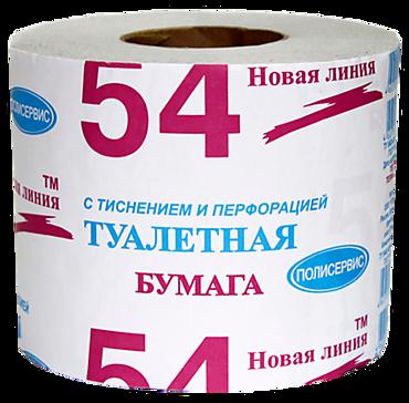 Туалетная бумага «Новая линия» с тиснением и перфорацией, 120г