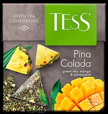 Чай зеленый «Tess» Pina Colada, 20 пирамидок