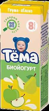 Биойогурт питьевой 2.8% «Тёма» Груша и яблоко, 210г