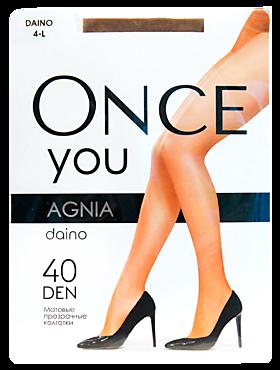 Колготки женские «Once You» Agnia 40 ден, daino, размер 4