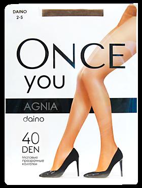 Колготки женские «Once You» Agnia 40 den, daino, размер 2