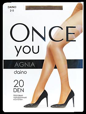 Колготки женские «Once You» Agnia 20 den, daino, размер 2