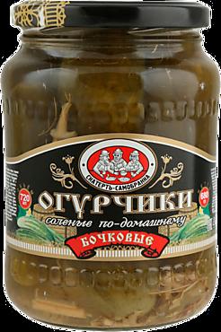 Огурцы «Скатерть-самобранка» бочковые, соленые по-домашнему, 950мл
