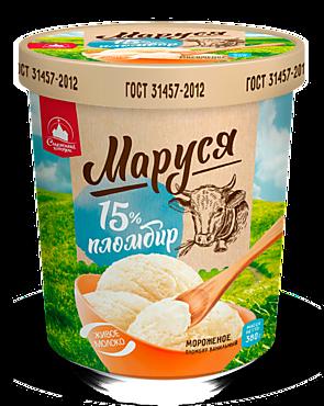 Мороженое «Маруся» пломбир ванильный, 380г