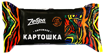 Пирожное «ZEBRA» Картошка, 80г