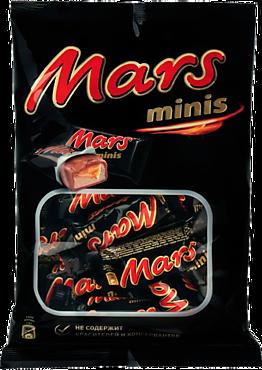 Шоколадные батончики «Mars» минис, 182г