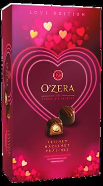 Шоколадные конфеты «O'Zera» «LOVE», пралине с цельным фундуком, 230г