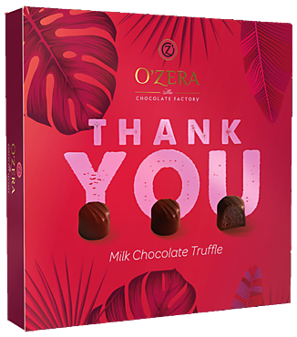Шоколадные конфеты «O'Zera» «Thank You» трюфель в молочном шоколаде, 140г