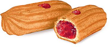 Печенье «Мини-эклеры с малиновой начинкой» (коробка 2кг)