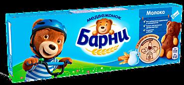 Бисквит «Медвежонок Барни» с молочной начинкой, 150г