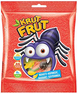 «КрутФрут», мармелад жевательный в форме разноцветных паучков, 100г