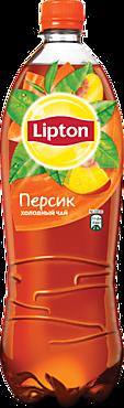 Черный чай «Lipton» со вкусом персика, 1л