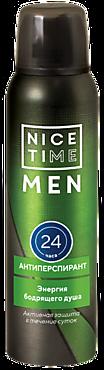 Антиперспирант «Nice Time» для мужчин «Энергия бодрящего душа», 150мл