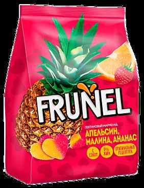Жевательный мармелад «Frunel» пектиновый с соком апельсина, малины и ананаса, 250г