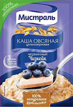 Каша овсяная «Мистраль» Черничный чизкейк, 40г