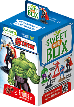 Фруктовые пастилки «Sweet box» с игрушкой «Disney», «Marvel», 10г