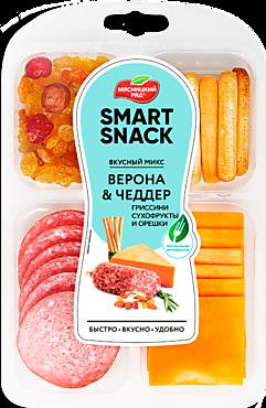 Вкусный микс Smart Snack «Мясницкий ряд» «Верона, Чеддер, Гриссини, Сухофрукты», 90г