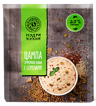 Ячменная каша «Мудра кухня» «Цампа» с семенами, 45г
