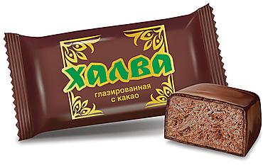 Халва глазированная с какао (коробка 2,5кг)