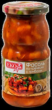 Фасоль «EKO» с грибами по-гречески, 510г