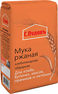Мука ржаная «С.Пудовъ» обдирная, 1кг