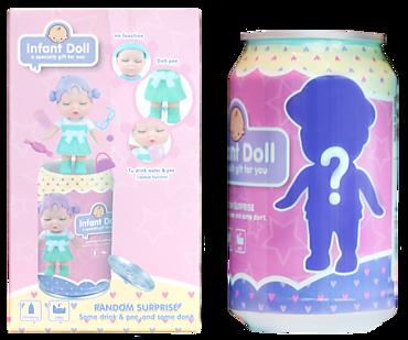 Куколка-сюрприз в банке газировки