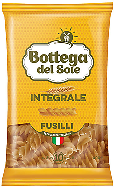 «Bottega del Sole», макаронные изделия Bogetta del Sole Integrale Fusilli, 400г