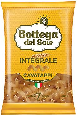 «Bottega del Sole», макаронные изделия «Витки», цельнозерновые, 400г