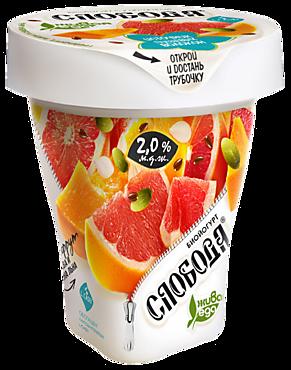Биойогурт питьевой 2% «Слобода» с грейпфрутом, тыквой и семенами льна, 235г