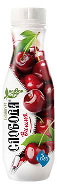Биойогурт питьевой 2% «Слобода» Вишня, 260г