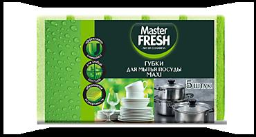 Губки для мытья посуды «Master Fresh» Maxi, 5шт