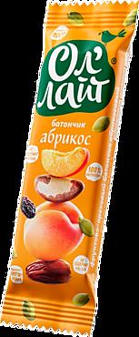 Фруктово-ореховый батончик «Ол`лайт» абрикосовый, 30г