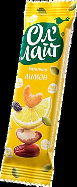 Фруктово-ореховый батончик «Ол`лайт» Лимонный, 30г