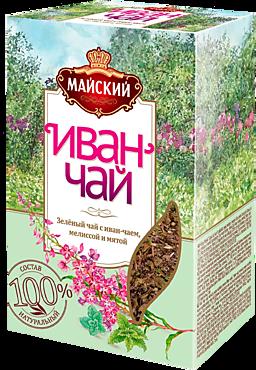 Чайный напиток «Майский» Иван-чай с зеленым чаем, мелиссой и мятой, 75г