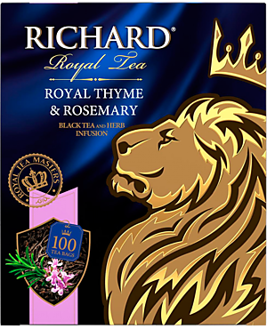 Чай черный «Richard» Royal Thyme & Rosemary, 100 пакетиков