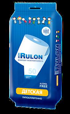 Туалетная бумага влажная «Mon Rulon» детская, с ромашкой, 50шт