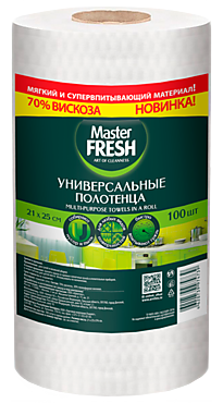Универсальные полотенца «Master Fresh» в рулоне, 100шт