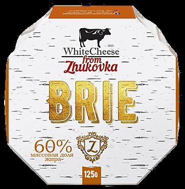 Сыр 60% «White Cheese From Zhukovka» Бри с плесенью, 125г