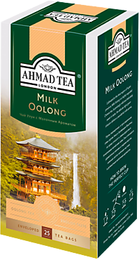 Чай зеленый «Ahmad Tea» Молочный улун, 25 пакетиков