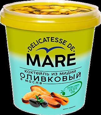 Коктейль из мидий «MARE» оливковый, в масле, 380г